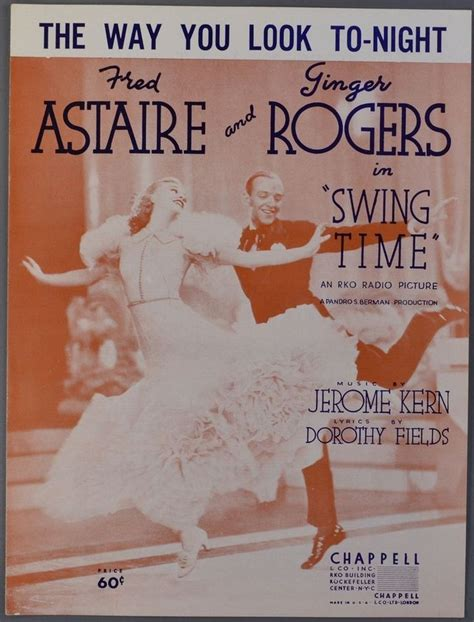 the way you look tonight swing time 483 best sheet music images on pinterest sheet music