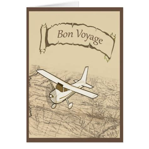 Printable Greeting Cards Bon Voyage | bon voyage airplane greeting card zazzle