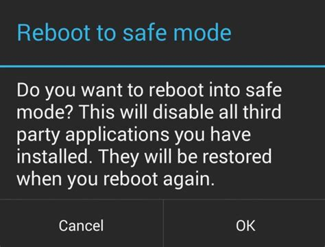 how to get android out of safe mode guide to boot android mobile or tablet into safe mode