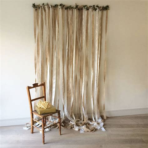 Wedding Lace Backdrop by Hessian And Lace Wedding Backdrop On White Pole By Just