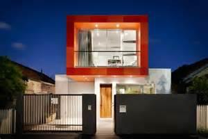 home design websites australia colorful contemporary houses fiery orange makes an