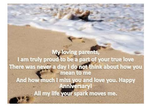 to my anniversary to my parents