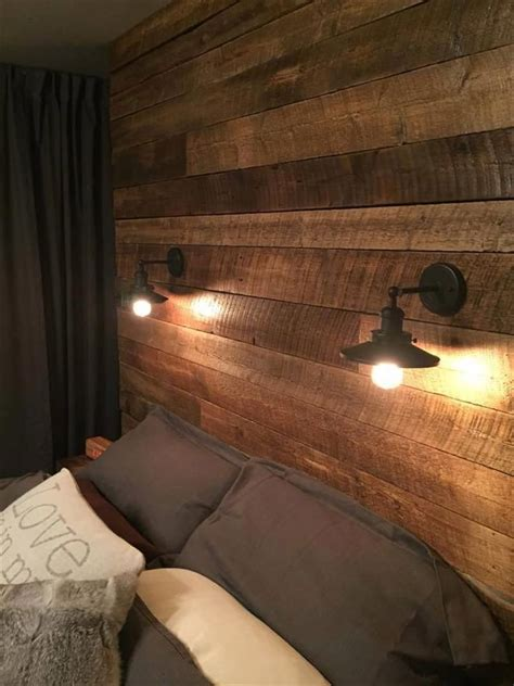 bedroom ideas on pinterest headboard ideas plank rustic light fixtures master bedroom google search