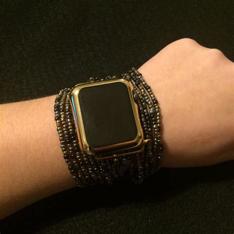 beaded watches apple band bracelet beaded boho band large