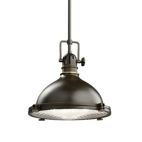 Lowes Industrial Lighting by Shop Kichler Hatteras Bay 11 75 In Olde Bronze Industrial