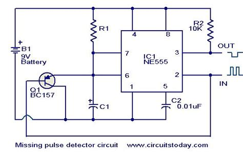 pulse detector circuit diagram missing pulse detector circuit using ne555 electronic