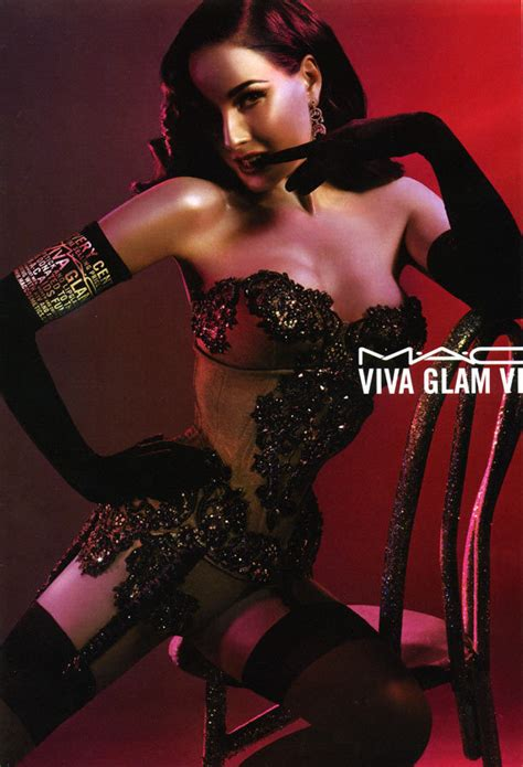 Mac Viva Glam Dita Teese Shows Us What Shes Made Of dita teese from burlesque to brand ny times