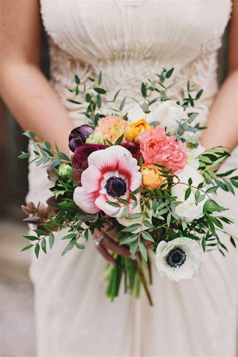 anemone bouquet beautiful bridal 10 romantic anemone bouquets