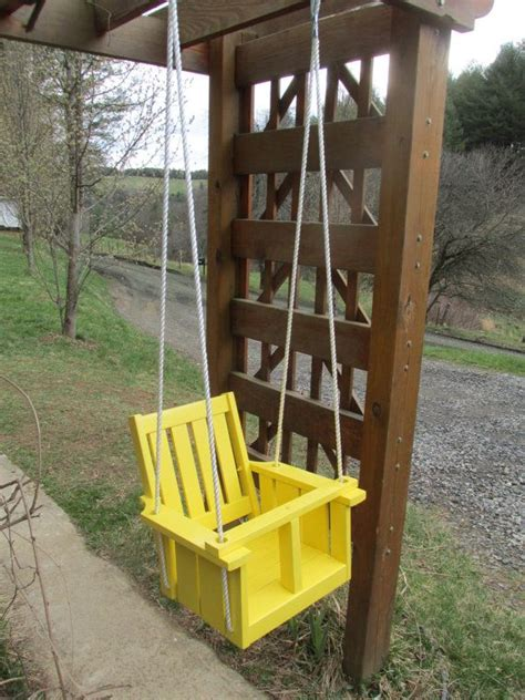 yellow porch swing child s porch swing solid wood red oak sun yellow sun