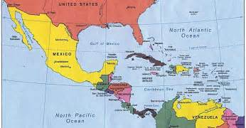 south america map mexico middle america