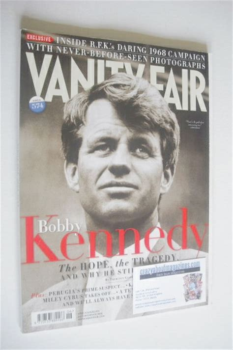 Vanity Fair Kennedy by Vanity Fair Magazine Bobby Kennedy Cover June 2008