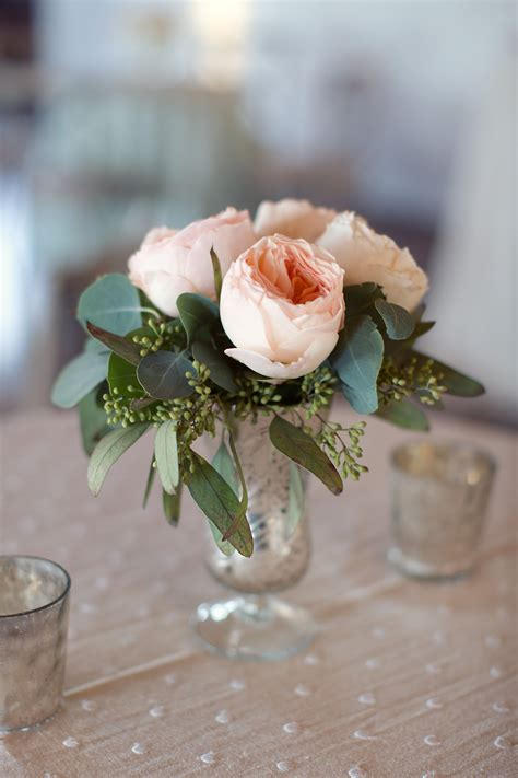 small flower arrangements centerpieces urban english garden inspired wedding elegant table