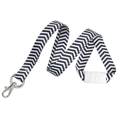 pattern matching nps zigzag pattern fashion lanyards with trigger hook and