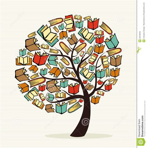 concept books tree stock vector image of collaborative