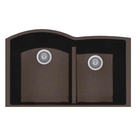 brown kitchen sink latoscana elegance undermount granite composite 22 in double basin kitchen sink in brown