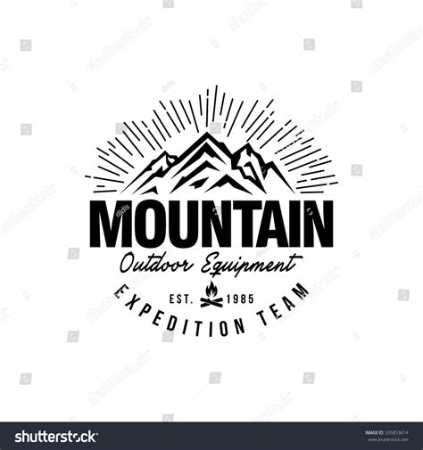 mountain hipster logo template stock vector illustration