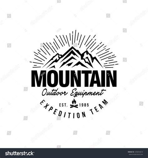 mountain hipster logo template stock vector illustration
