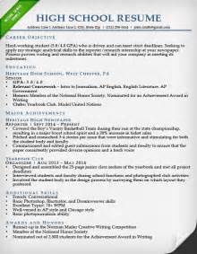 sample high resume best business template