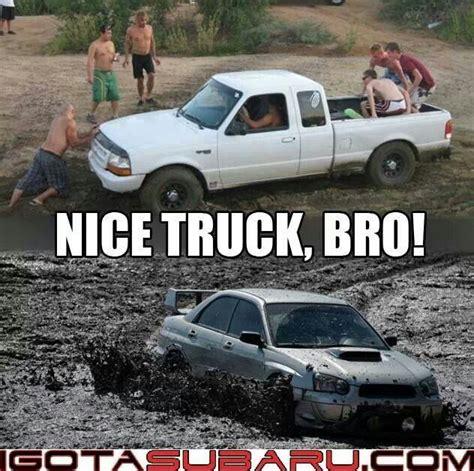 Nice Car Meme - nice truck bro i see you drive offroad that s cute