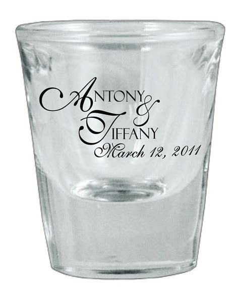 Wedding Favors Glasses by 126 Wedding Favors Personalized Glass Glasses By