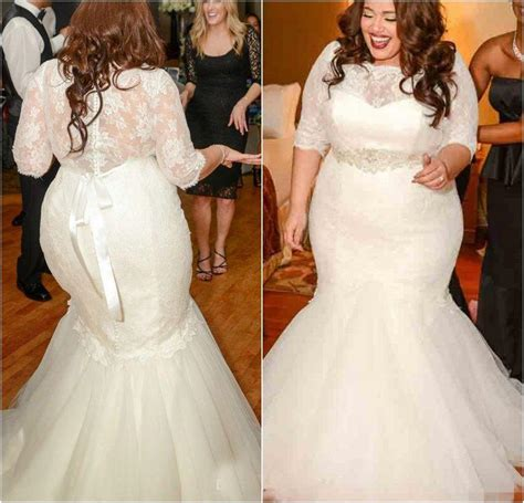 Gorgeous Half Sleeves Mermaid Wedding Dresses 2016 New