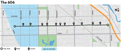 chicago 606 map is the bloomingdale trail a path to displacement