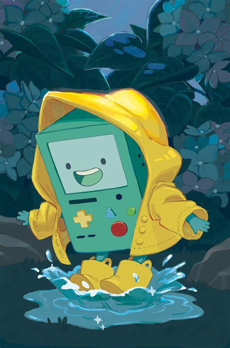 wallpaper cartoon pinterest adventure time bmo jugando en la lluvia cartoon