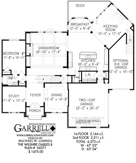 wilshire gables b house plan estate size house plans