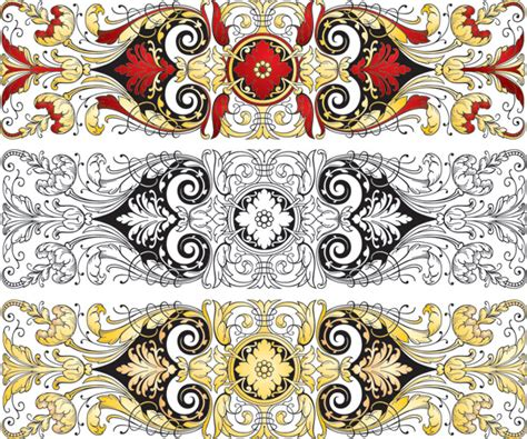 chinese pattern fabric vector chinese classical pattern vector pattern free vector 4vector