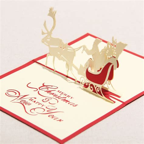 Handmade New Year Greeting Card - 3d greeting card handmade paper crafts quot merry