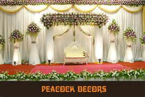 Peacock Wedding Decorations Palani Wedding Decorators Reception Decorators And Planners Palani Wedding Planning And