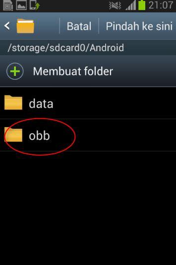 cara instal game mod apk data cara mudah instal game apk dan data obb di android