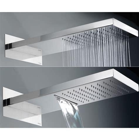 soffioni doccia a parete soffione doccia rettangolare semicircolare ultraflat