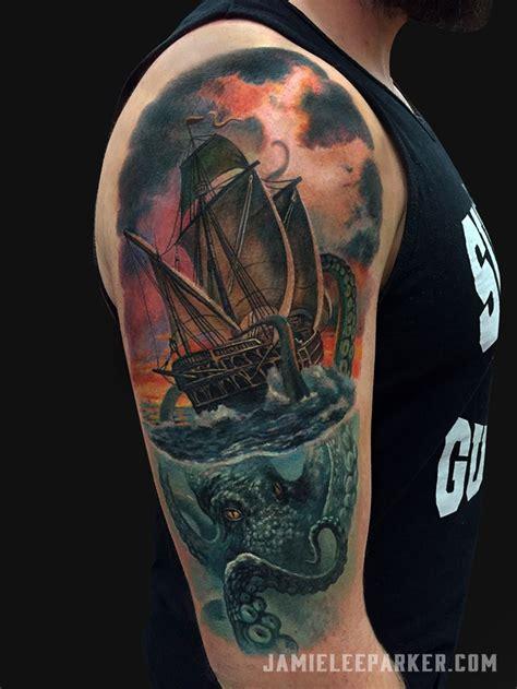 kraken ship tattoo best 25 kraken ideas on octopus sketch