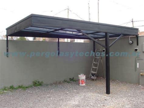 cocheras techadas con policarbonato techos para autos techos para cocheras