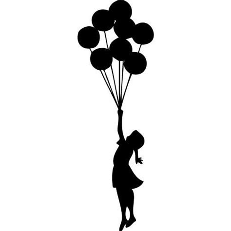 Wall Sticker Design Your Own banksy inspired floating balloons vinyl wall decal by
