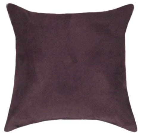 Plum Colored Throw Pillows by Plum Suede Pillow Set Throw Pillows Sofa Pillows Sale