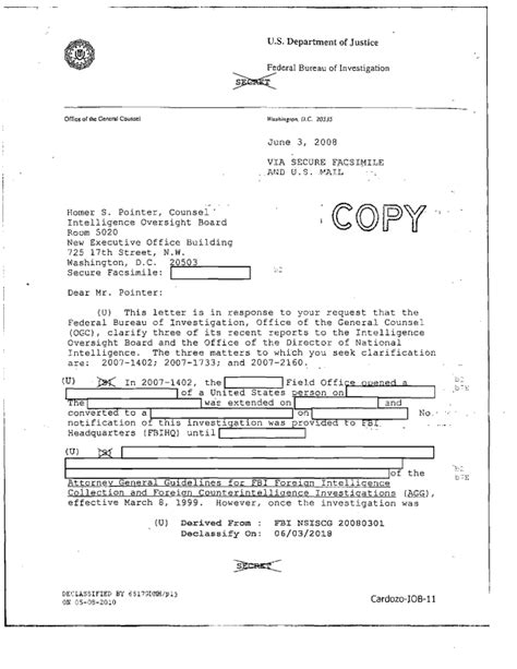 Intelligence Report Writing Template Patterns Of Misconduct Fbi Intelligence Violations From