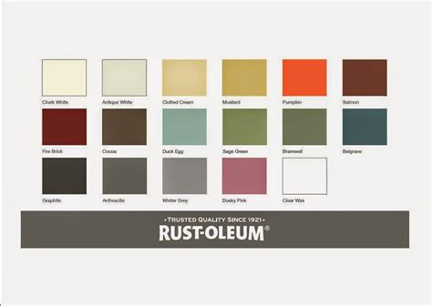 rust oleum colour chart paint colors colour chart rust and shabby
