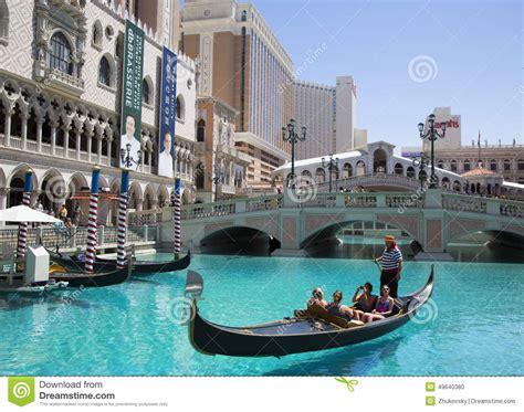 gondola boat vegas unidentified tourists enjoy gondola ride at grand canal at