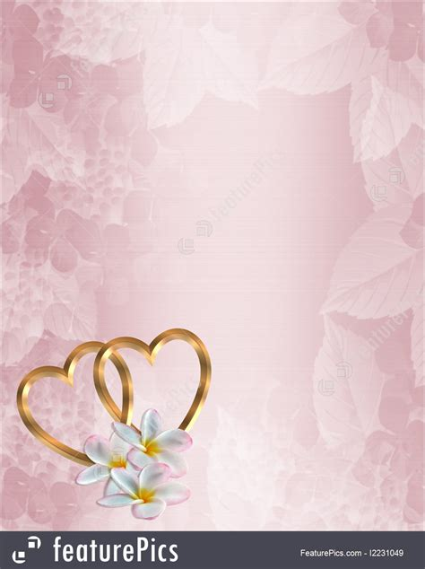 illustration of wedding invitation pink floral
