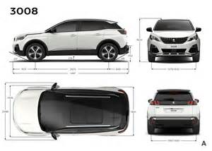 Peugeot 3008 Dimensions Photo Dimensions Ext 233 Rieures Mm Peugeot 3008 Ii 2016