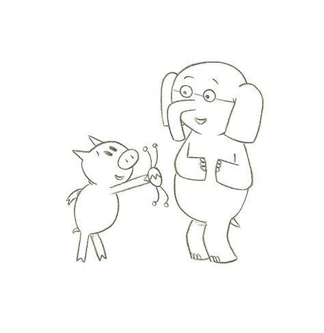 mo willems coloring pages elephant and piggie coloring home