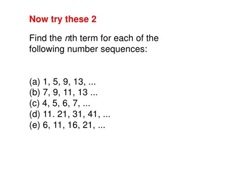 pattern sequence exles finding the nth term worksheet bluegreenish