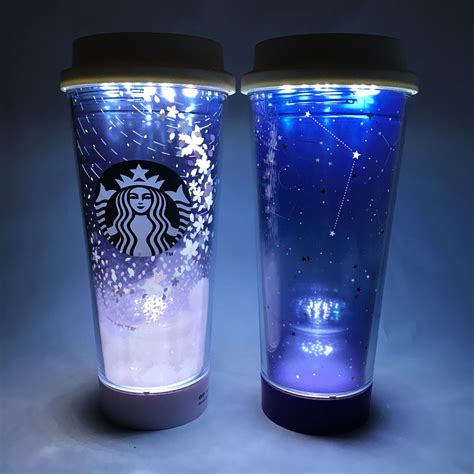 2017 starbucks korea cherry blossom constellation summer led tumbler set