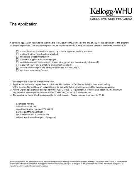 Business School Admission Letter Mba Letters Of Recommendation Sles Best Template Collection