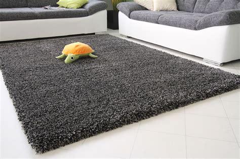 hochflor teppich shaggy teppich anthrazit - Teppich Anthrazit