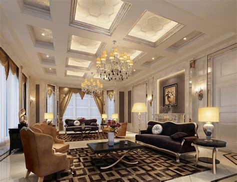 Luxury interior design super luxury villa living room interior