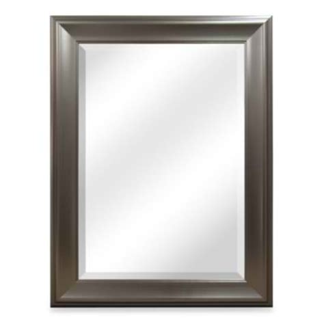 bathroom wall mirrors brushed nickel modern look with the brushed nickel mirror