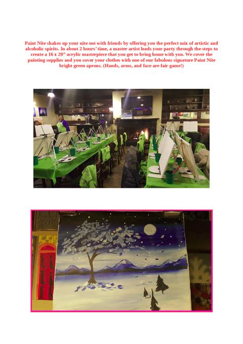 paint nite nyc schedule paint nite in yonkers restaurants authorstream